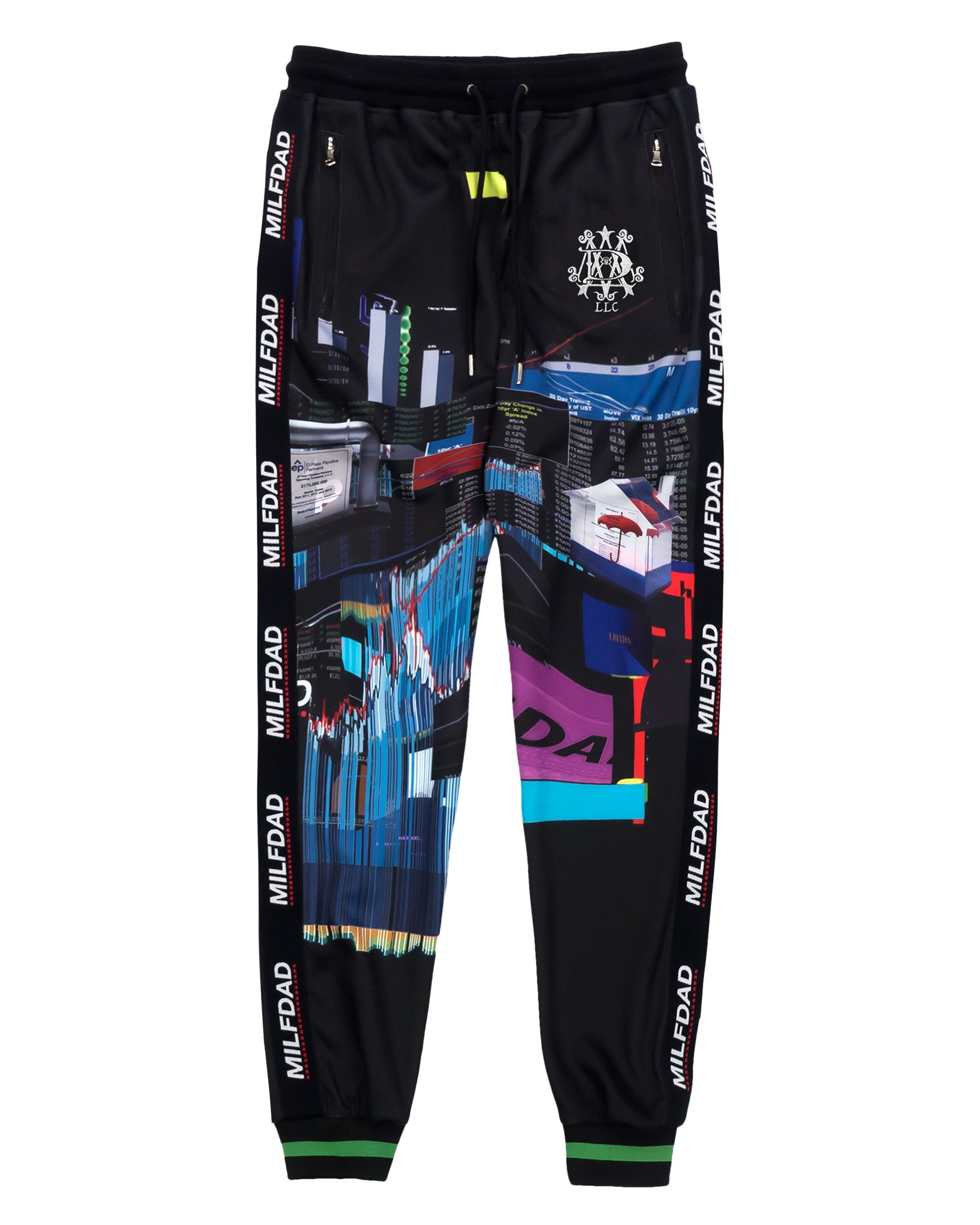 TRACK PANT - SPREADSHEET / BLACK