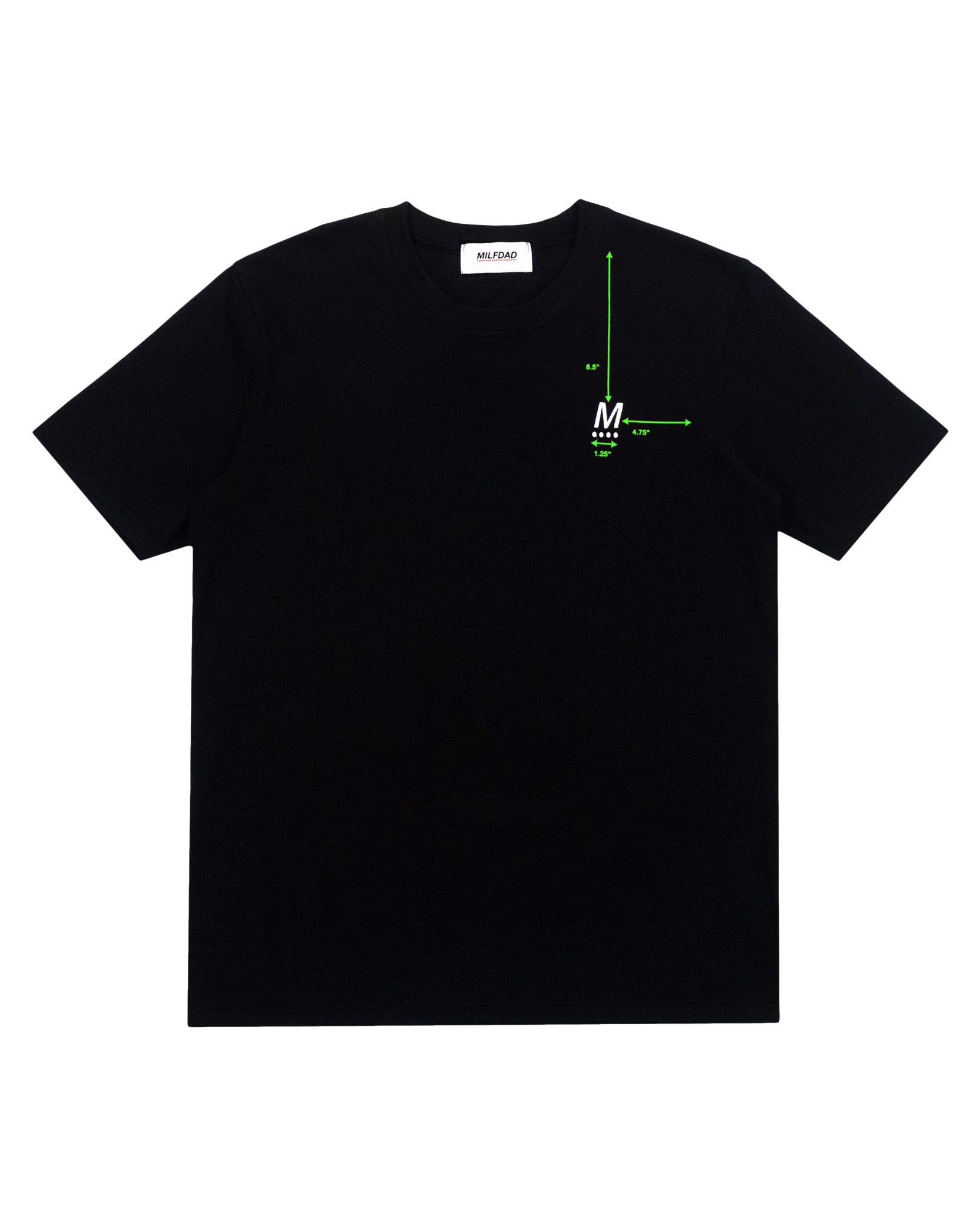DIAGRAM TEE - BLACK / GREEN