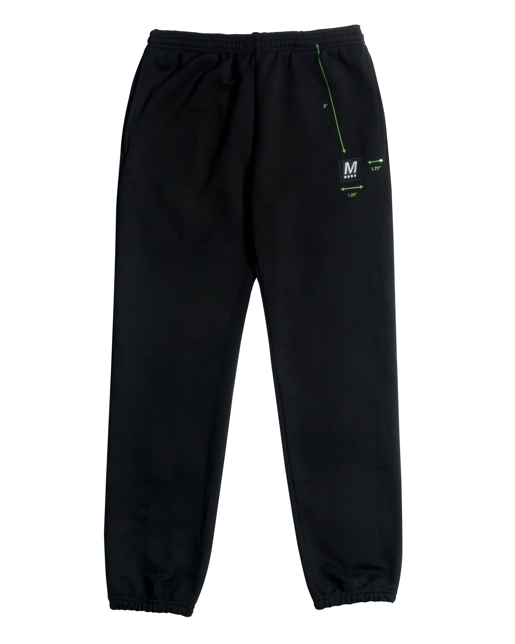 DIAGRAM SWEATPANT - BLACK / GREEN