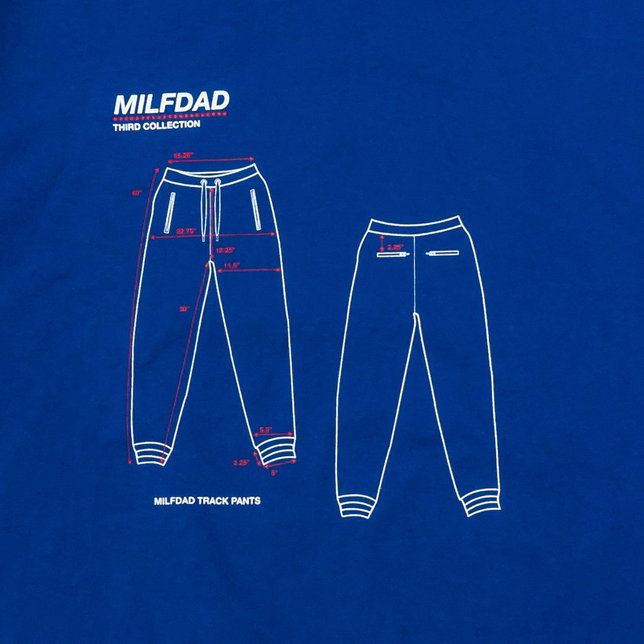 DIMENSIONS TEE - ROYAL BLUE-MILFDAD