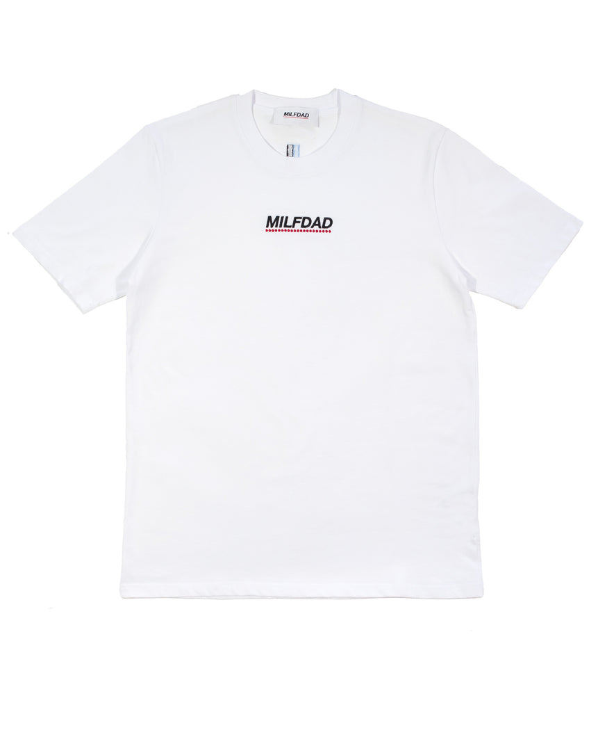EMBROIDERY LOGO TEE - WHITE