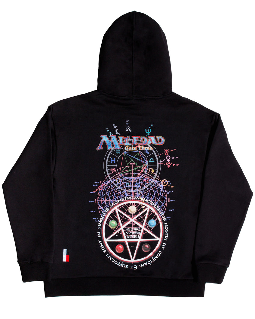 GATE THREE HOODIE - BLACK