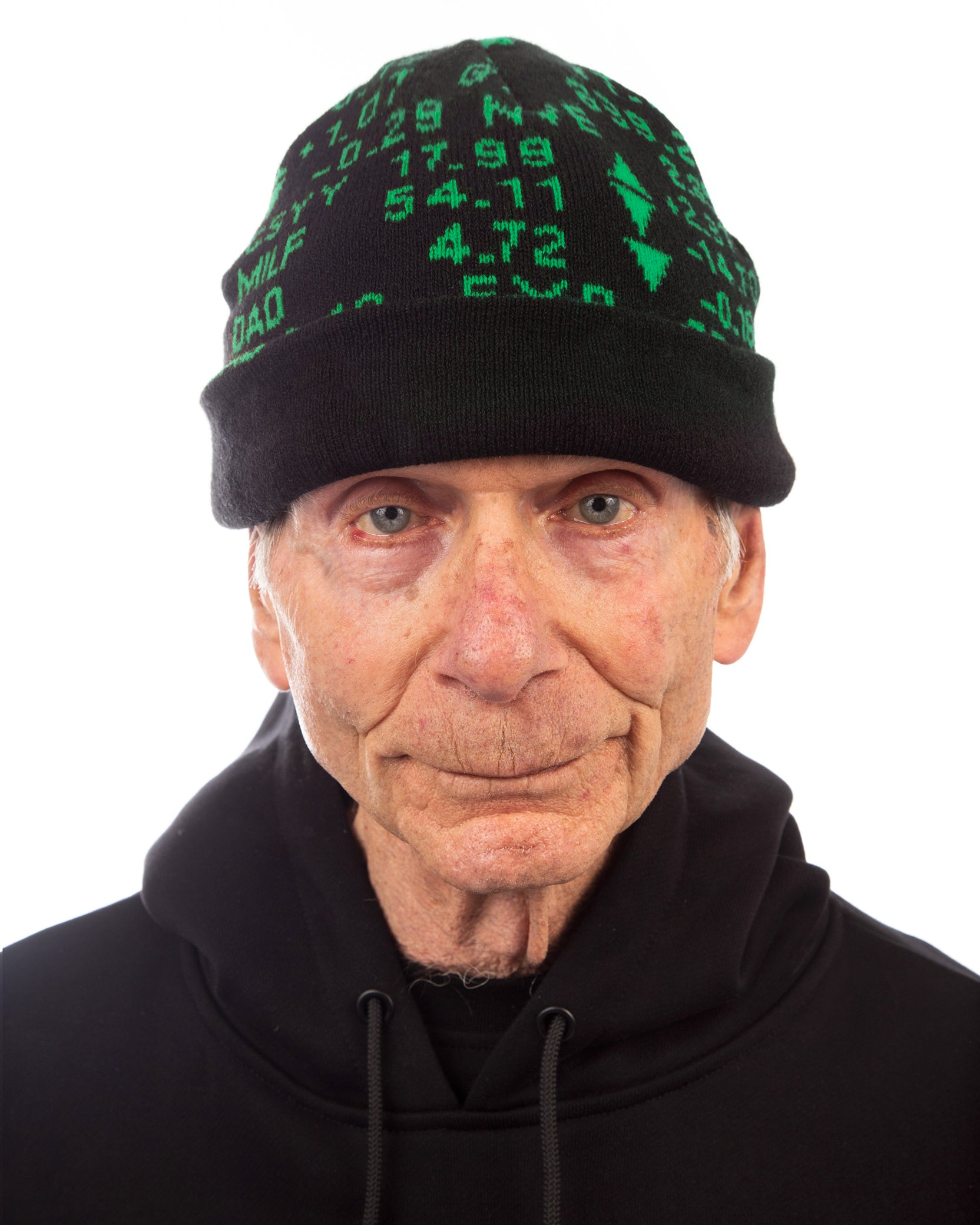 STOCK TICKER BEANIE - BLACK / GREEN