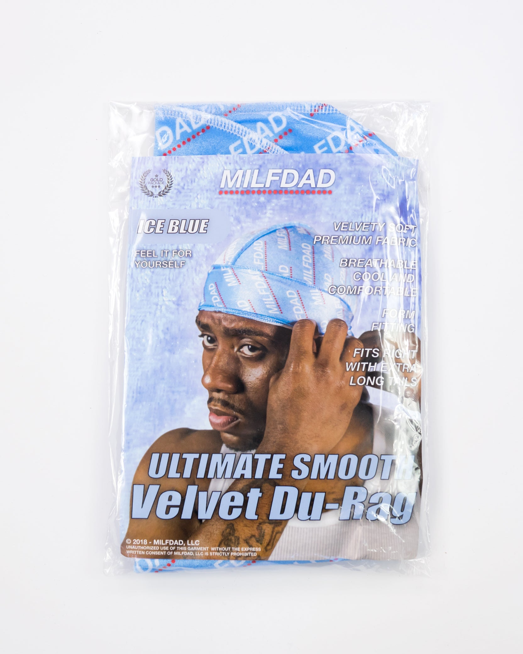 SILKY DURAG - LIGHT BLUE