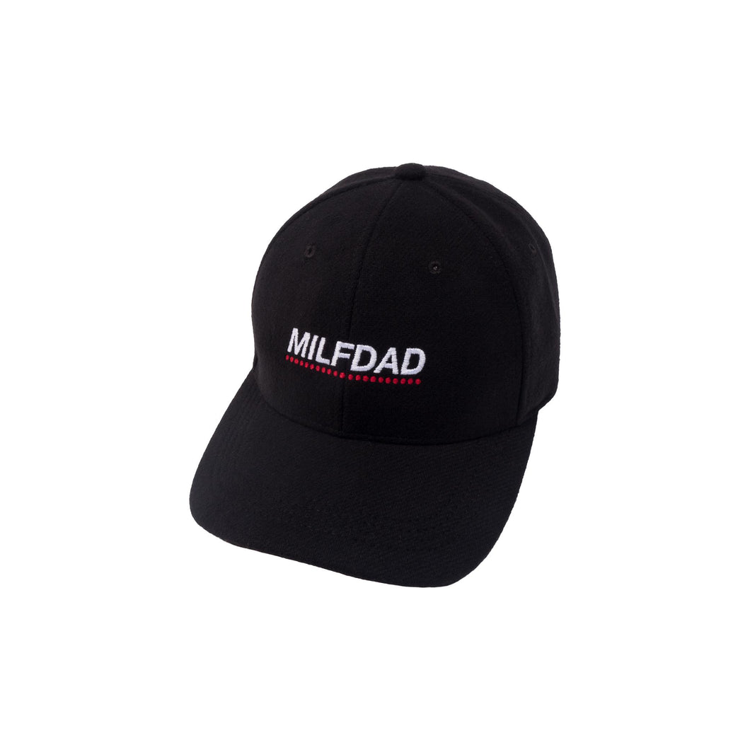 LOGO 6-PANEL CAP - BLACK-MILFDAD