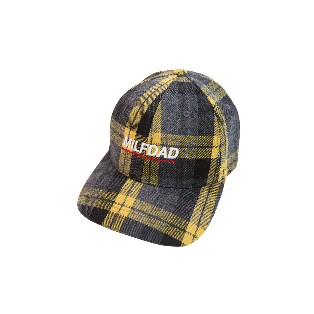 LOGO 6-PANEL CAP - PLAID-MILFDAD