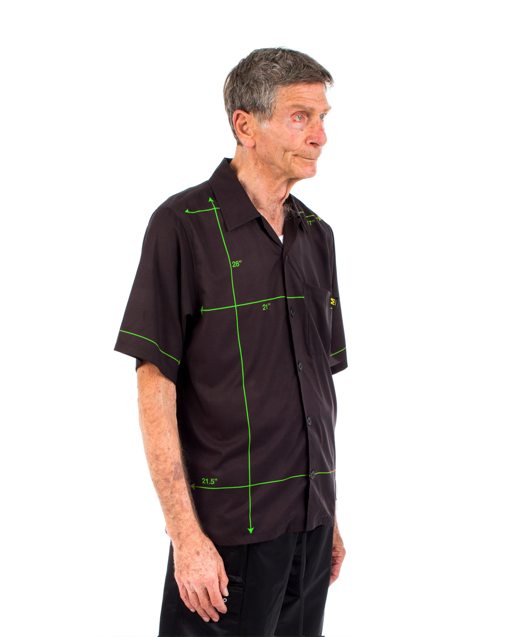 DIAGRAM BUTTON SHIRT - BLACK / GREEN