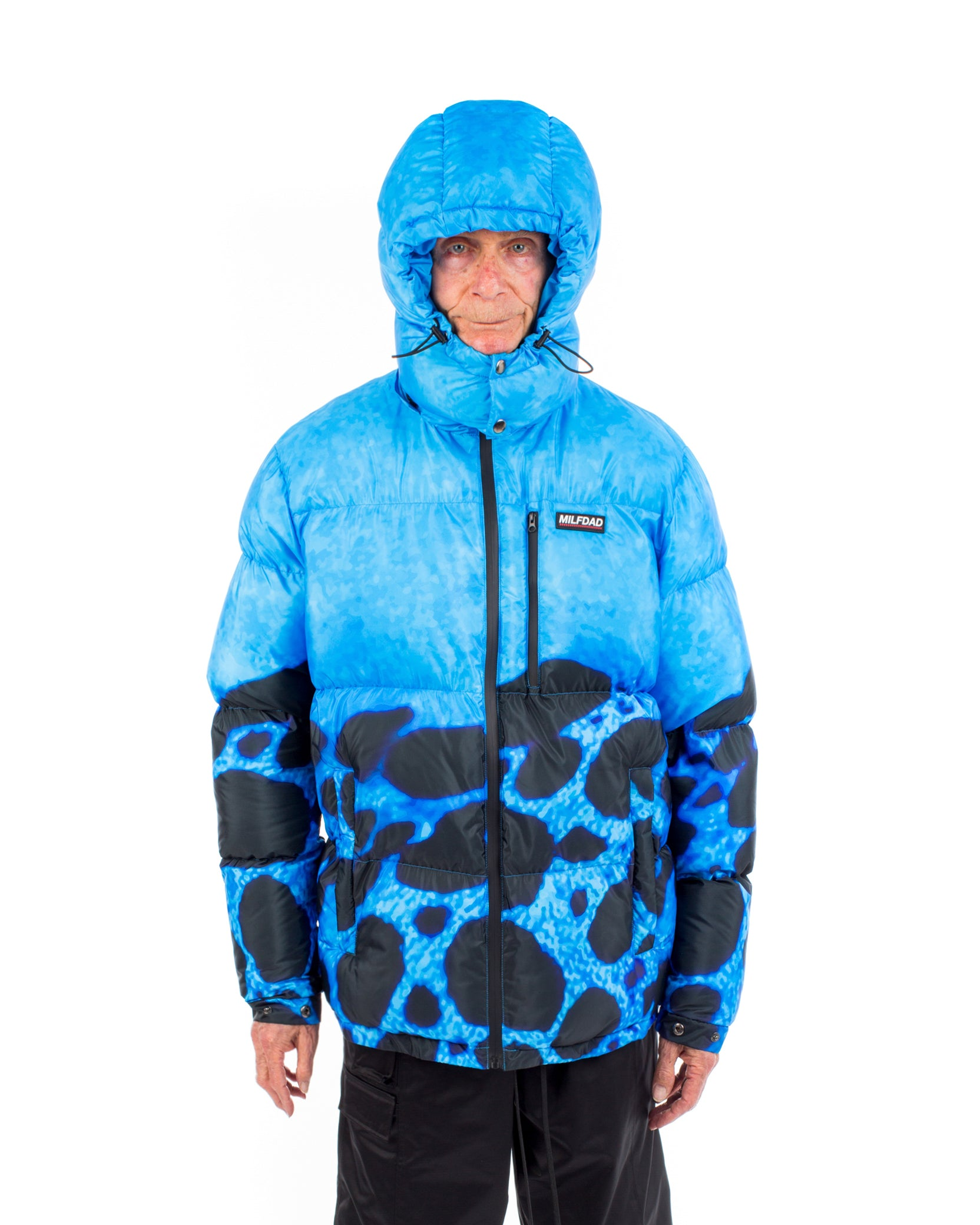 POISON PUFFER COAT - BLUE / BLACK