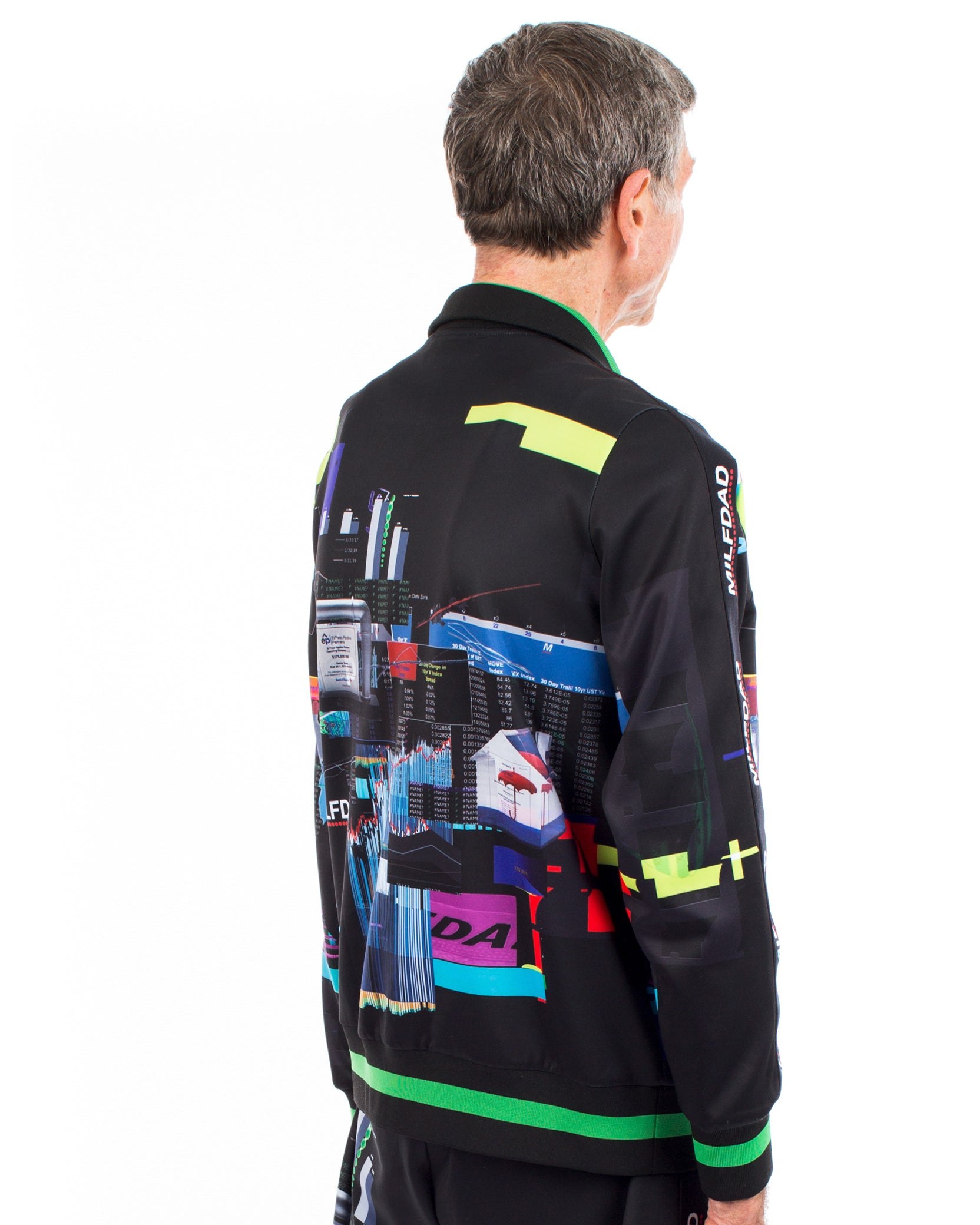 TRACK JACKET - SPREADSHEET / BLACK