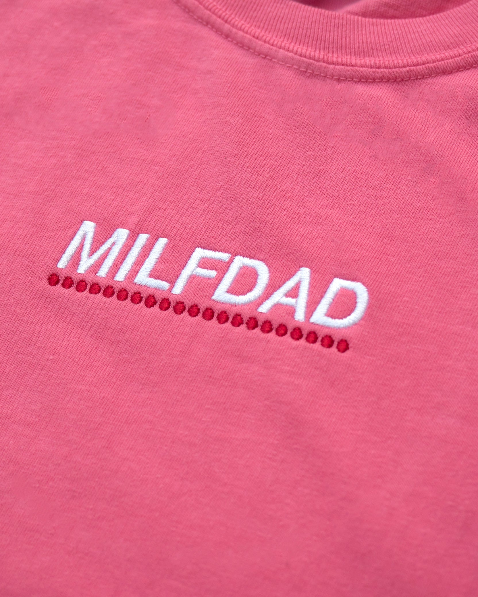 EMBROIDERY LOGO TEE - PINK