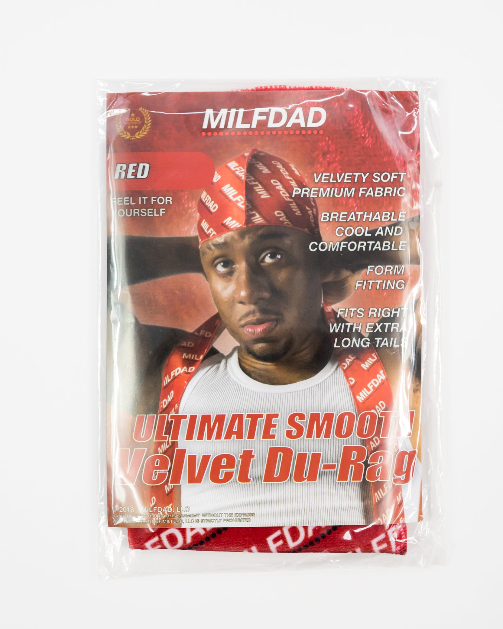 SILKY DURAG - RED