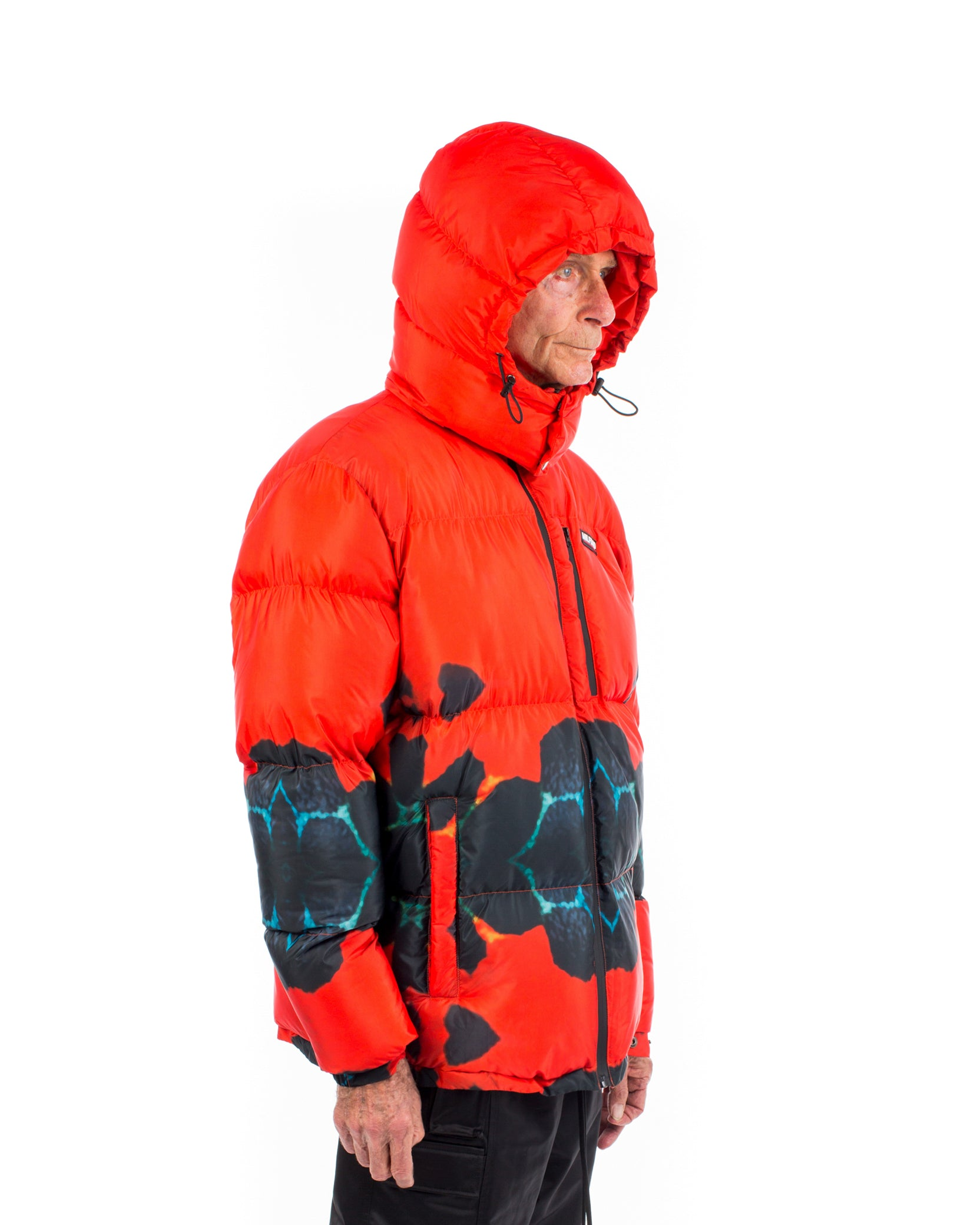 POISON PUFFER COAT - RED / BLACK