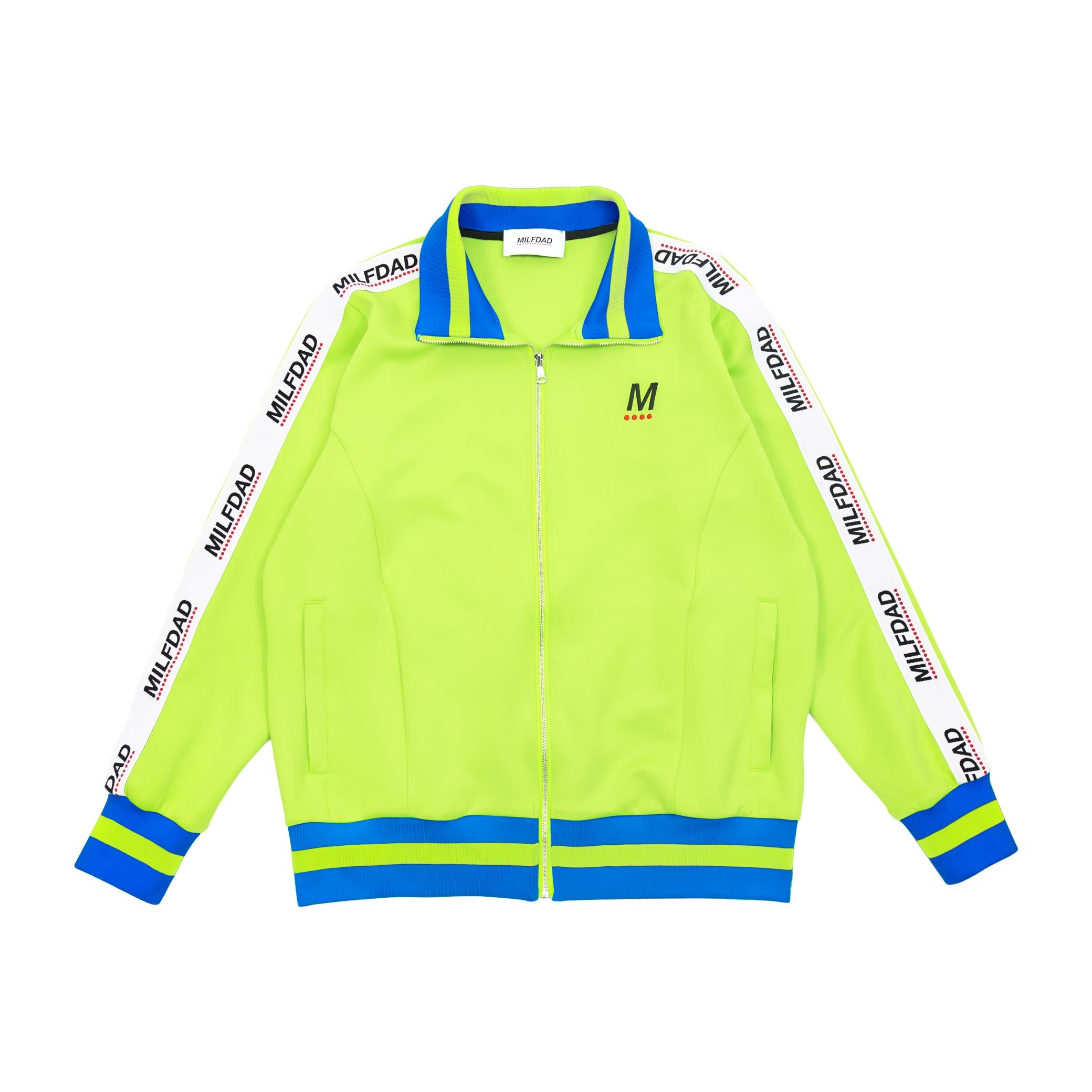 TRACK JACKET - LIME GREEN-MILFDAD