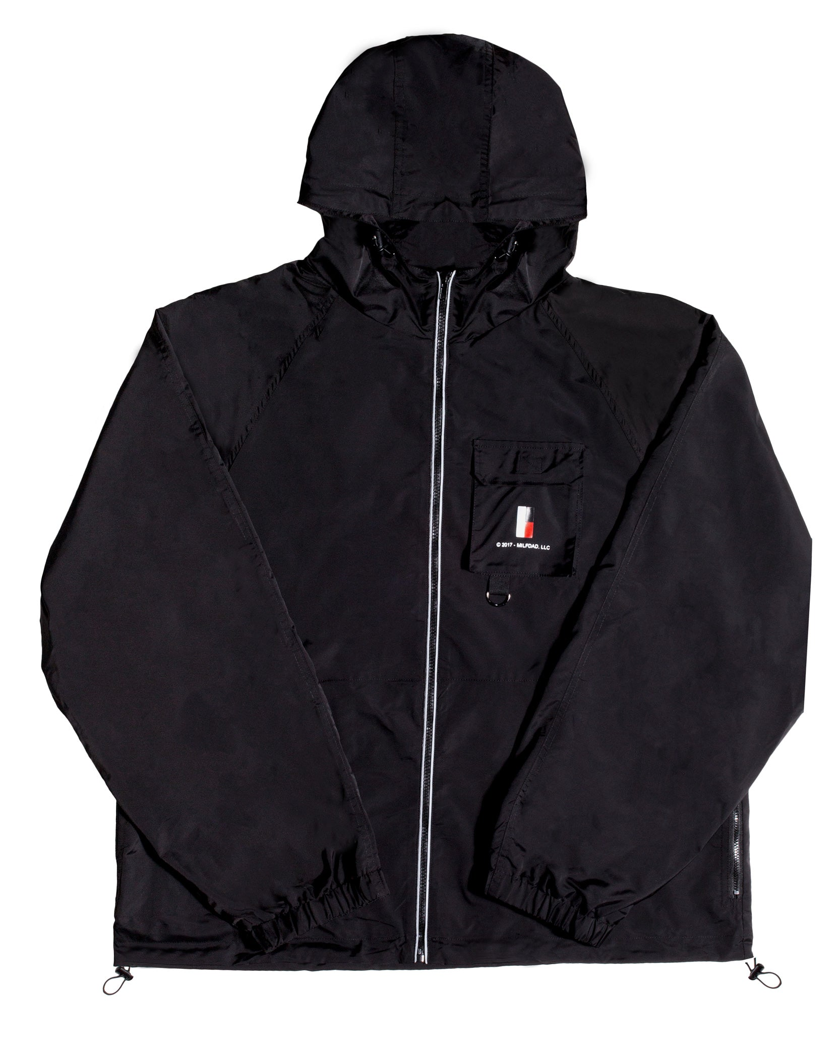 HOODED 3M WINDBREAKER - BLACK