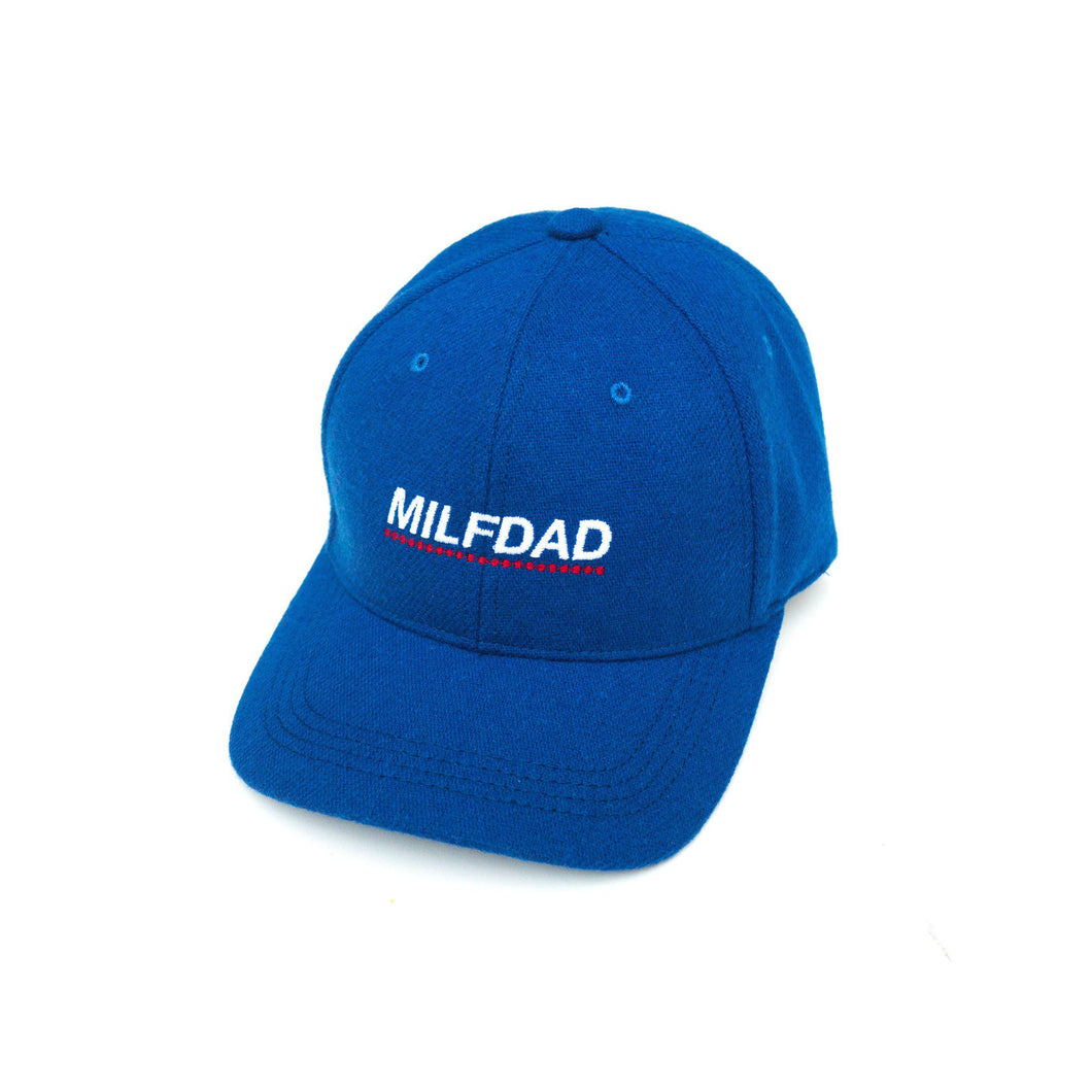 WOOL 6-PANEL CAP - ROYAL BLUE-MILFDAD