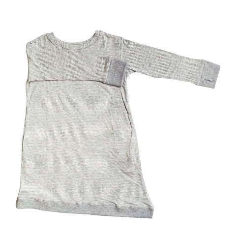 Asymmetric Dress - Youth - Grey Skinny Stripes