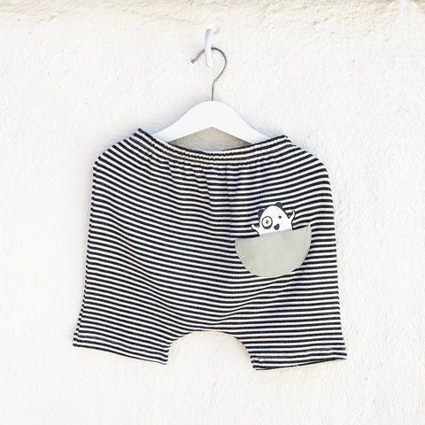 Hammer Shorties - Black + White Stripes