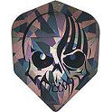 Dart World 2D Glitter Flights - Stripe Skull Shape