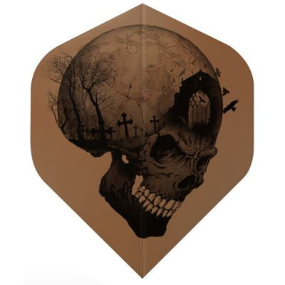 Dart World Alchemy Copper Flights - Headstone Skull Standard