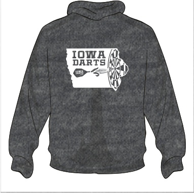 Iowa Darts Heavy Blend Hooded Sweatshirt
