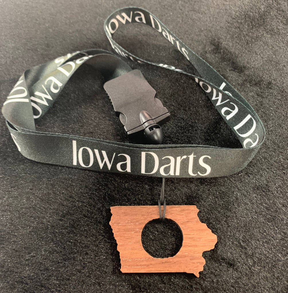 Iowa Darts Necklace Dart Holder- Made from Walnut