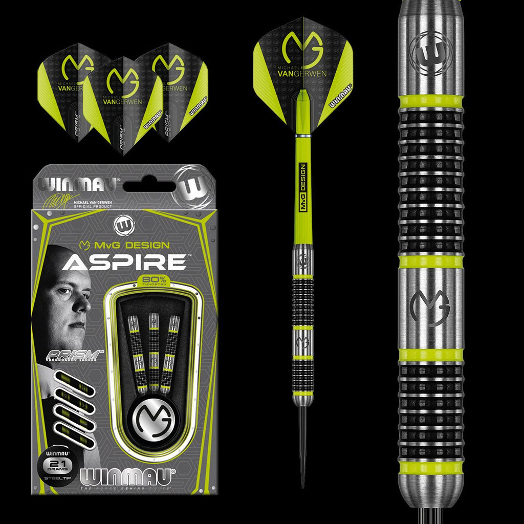 WINMAU MVG ASPIRE STEEL TIP DARTS