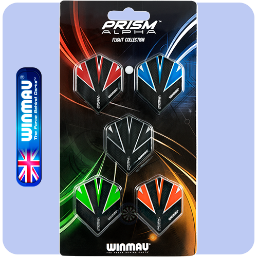 Winmau Prism Alpha Dart Flight Collection.
