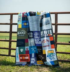 Colorado T-shirt Quilt by Julie Moss of Replay Quilts