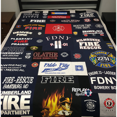 Fire Dept. T-shirt Quilt by Replay Quilts