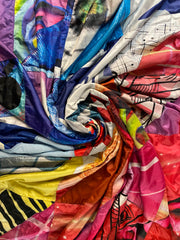 Swirled Flag Memory Quilts by Julie Moss of Replay Quilts