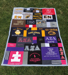 Sorority Memory T-shirt Quilts by Replay Quilts