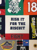 Sports T-shirt Blankets by Replay Quilts
