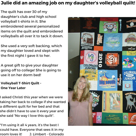 Replay Quilts - Volleyball - T-shirt - Quilt - Testimony