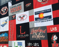 Loveland High School Cross Country T-shirt Quilt