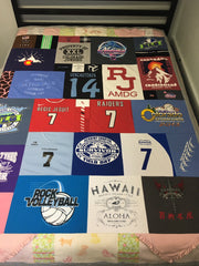 High School Volleyball Sports T-shirt Quilt - with Baby clothes border