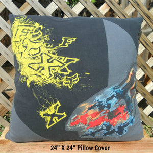 Motor Cross T-shirt Memory Pillow by Moss Re-Creations -  24 X 24 size