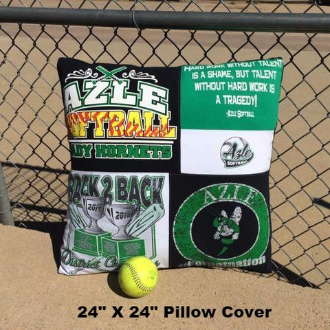 24X24 - Texas - High - School - Softball - Memory - Pillow - Cover