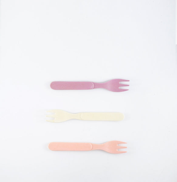 Bamboo Eco Baby Fork 3 Pack