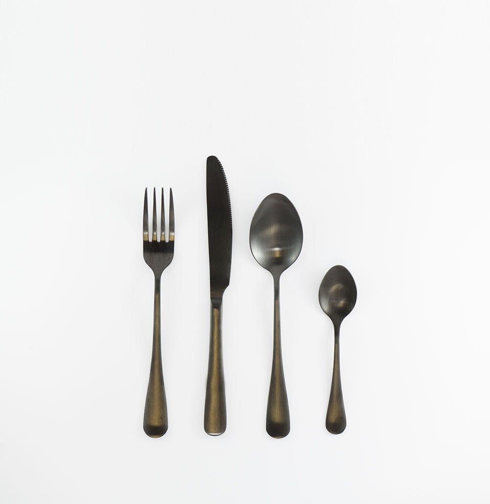 Matte Black 24pcs Cutlery Dinning set