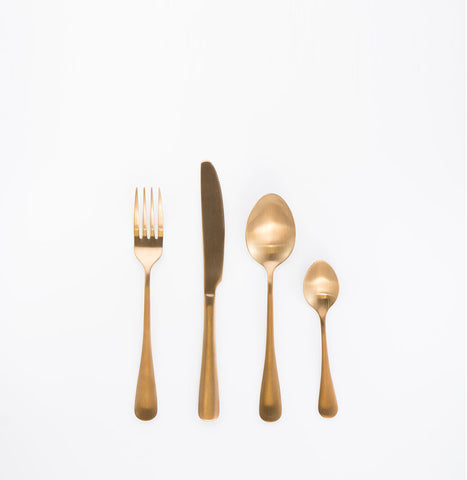 Matte Gold 24pcs Cutlery Dinning set