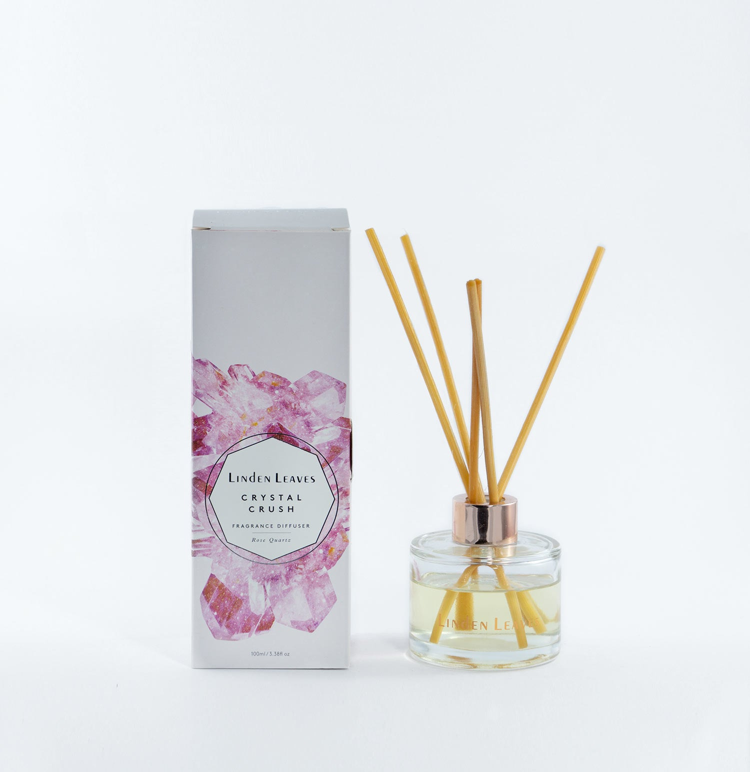 Rose quartz fragrance diffuser