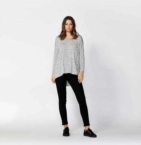 Printed Milan 3/4 Sleeve Top