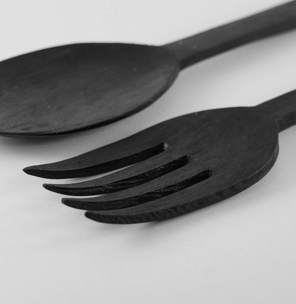 Hitam Salad Serving Set