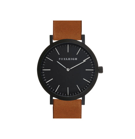 Black & Tan Leather Watch