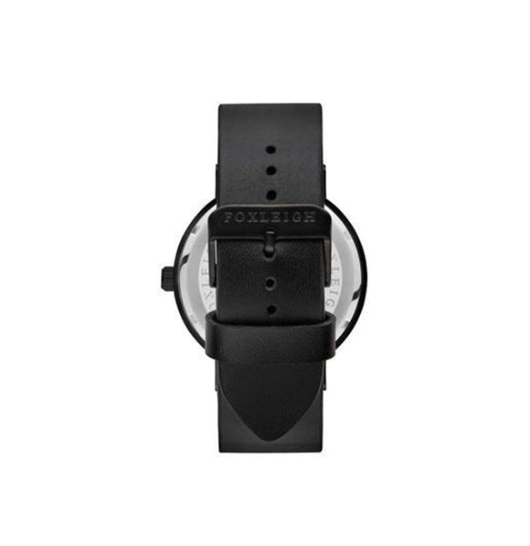 Black & Black Leather Watch