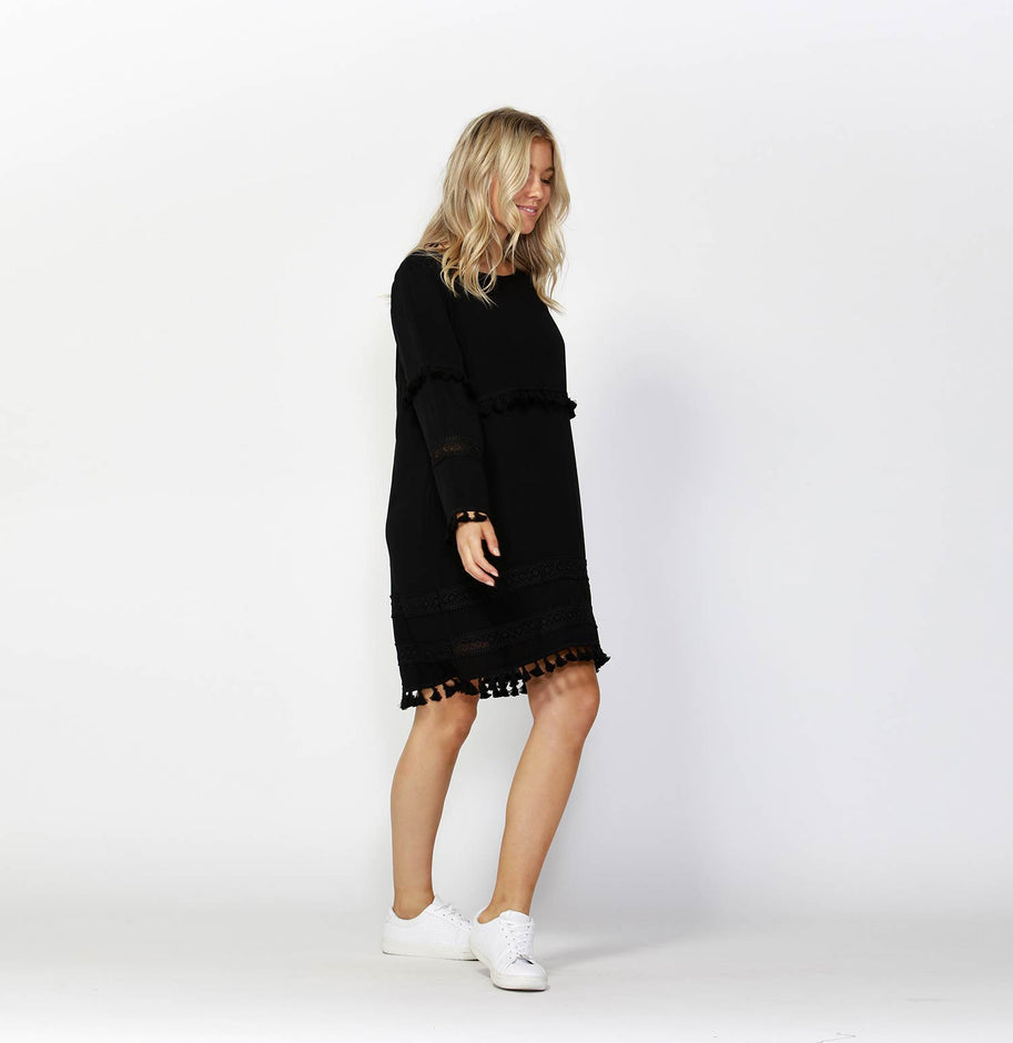 Free Spirit Tassle Shift Dress