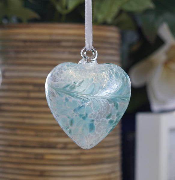 Sienna Glass Heart