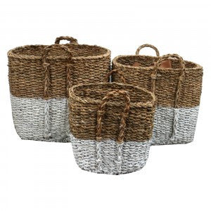 Seagrass Tall Square Baskets