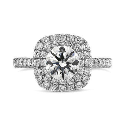 0.72ct Pavé Side Diamonds in 14K White Gold Semi-Mount Ring