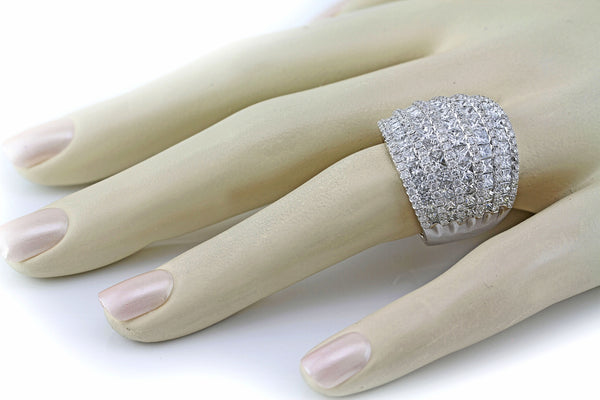 6.09ct Diamonds in 14K White Gold Wedding Anniversary Band Ring